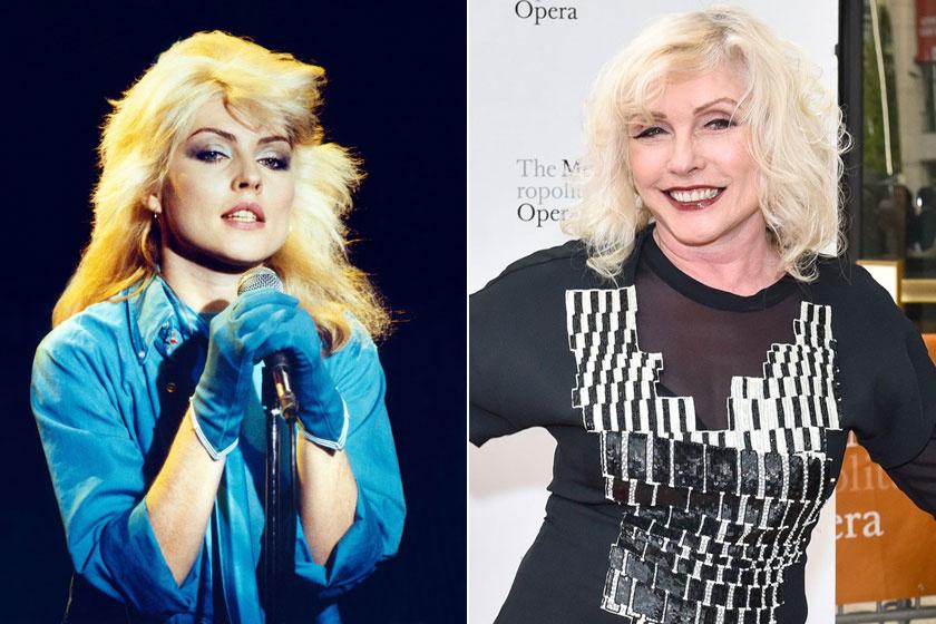 Debbie Harry a '70-es években és 2018-ban.