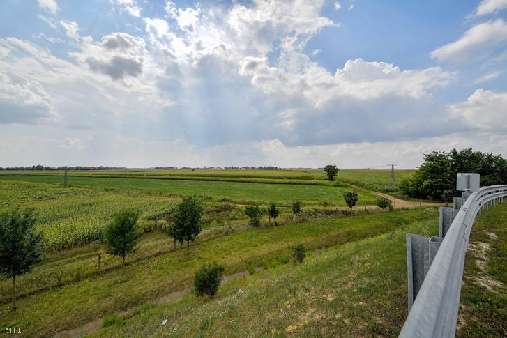 Mezőgazdasági földterület Debrecen határában a 33-as főút mellett 2018. július 31-én. Ezen a területen és környékén épít gyárat a BMW Group.
