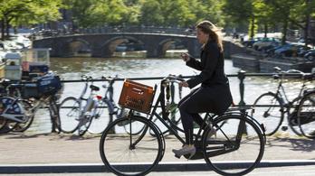 Nem lehet majd telefont használni kerékpározás közben Hollandiában