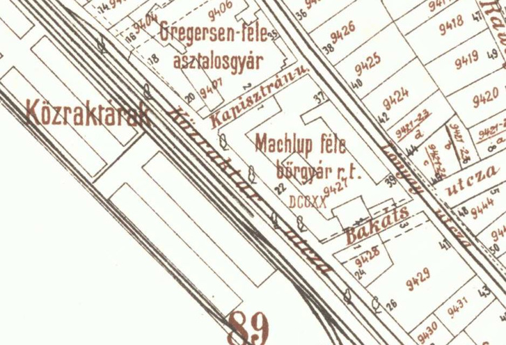 a bőrgyár a Gálya utca helyén
