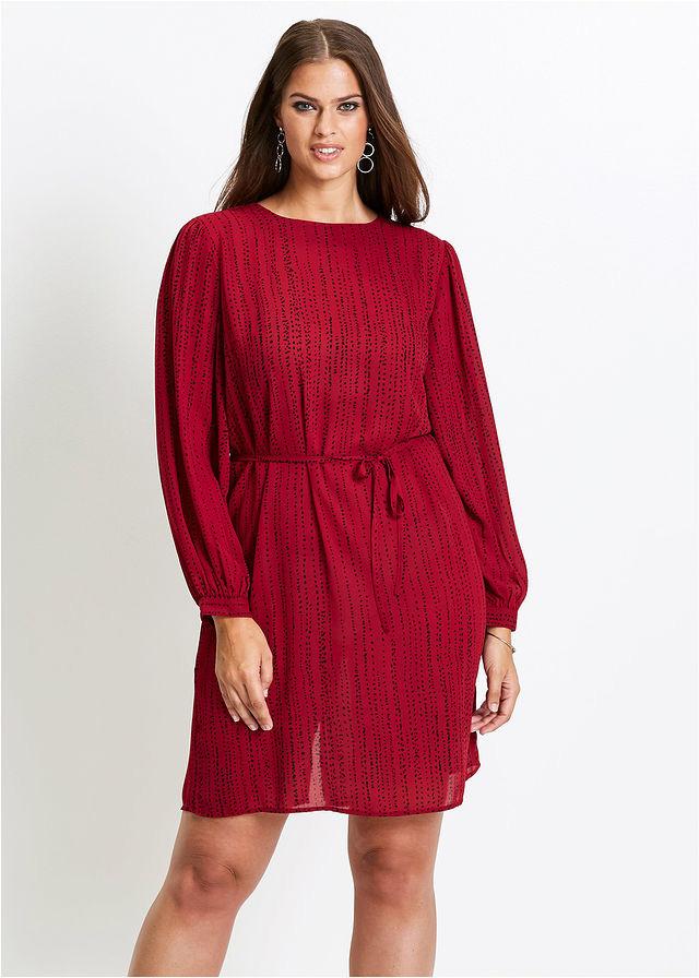 A piros és a bordó különböző árnyalatai különösen divatosak ősszel. De ez a ruha azért is jó választás, mert kötője miatt karcsúsítja a derekat, a hosszanti minta pedig nyújtja az alakot. A Bonprix-ben 6999 forint.