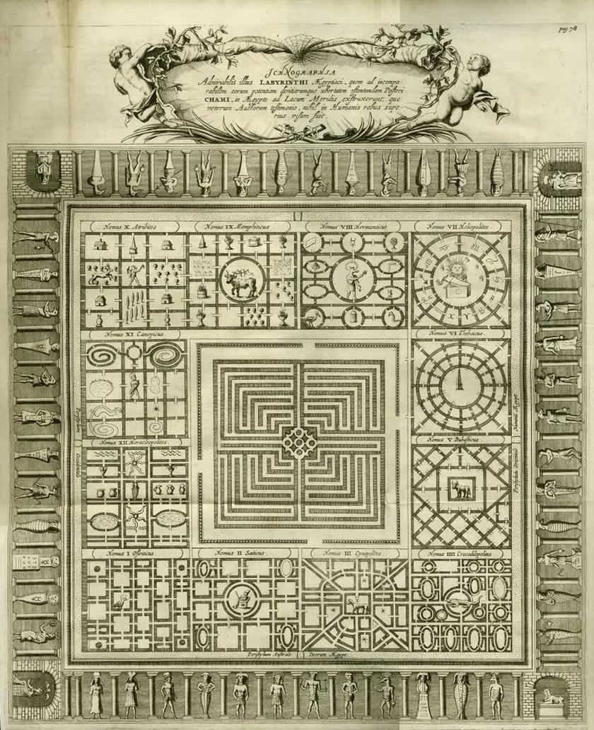 Athanasius Kircher rajza.