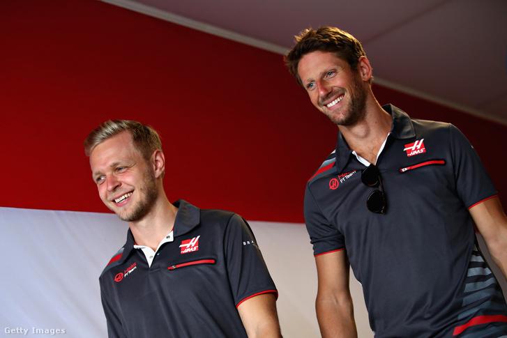 Kevin Magnussen és Romain Grosjean a 2018-as Magyar Nagydíjon