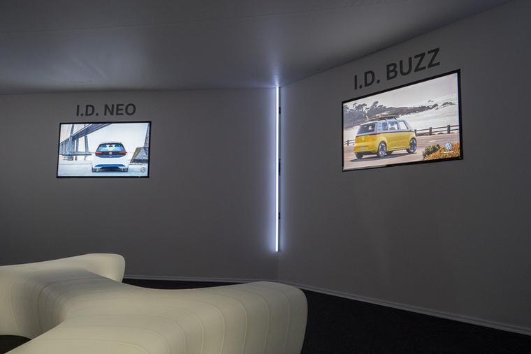 A Volkswagen igyekezett egy külön szobával hangsúlyozni elköteleződését az elektromos hajtás mellett