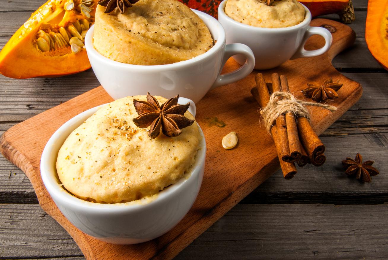 Egyadagos mikrós, sütőtökös süti: még a muffinnál is egyszerűbb