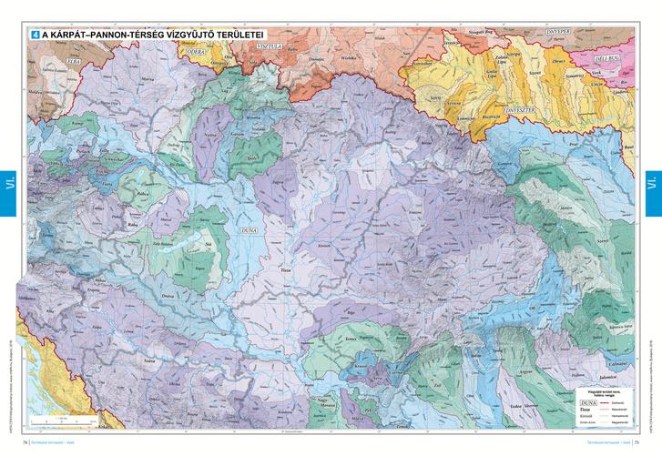 A Kárpát—Pannon-térség vízgyűjtő területei.