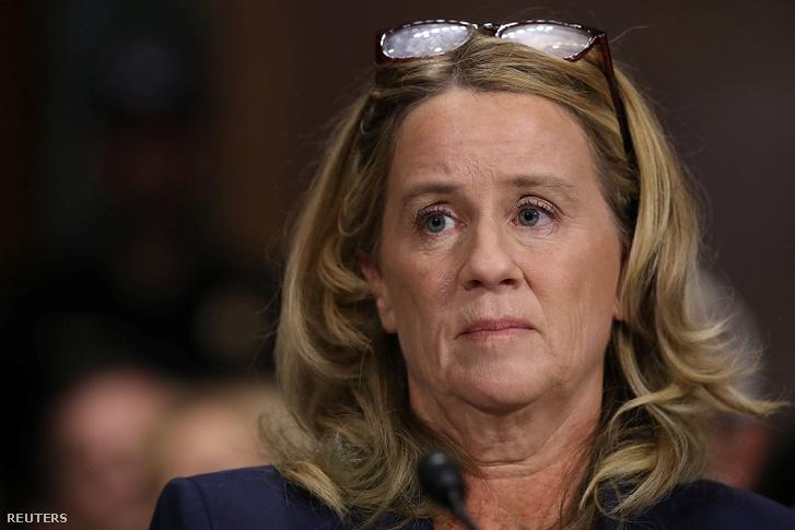 Christine Blasey Ford a szenátusi bizottság meghallgatásán