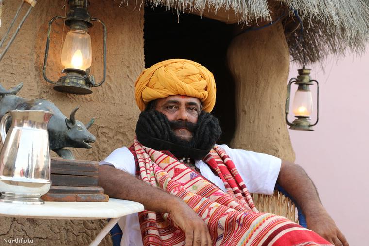 Az indiai Bíkánér városából származó 58 éves Girdhar Vyas alighanem a világ leghosszabb bajszú illetője