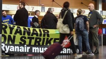 Betett a sok sztrájk a Ryanairnek