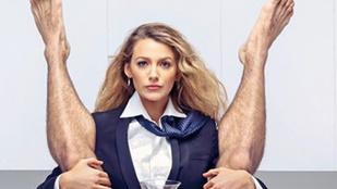 Blake Lively meztelen férfival pózolt, a férje ezt is széttrollkodta