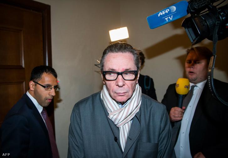 Jean-Claude Arnault a bíróságon az ítélethiretés napján