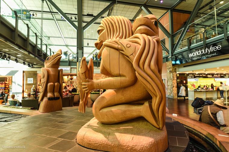 A Vancouver Nemzetközi Repülőteret még akkor is érdemes meglátogatni, ha éppen nem repülsz, ugyanis nem csak szoborgyűjteménnyel, több akváriummal is rendelkezik