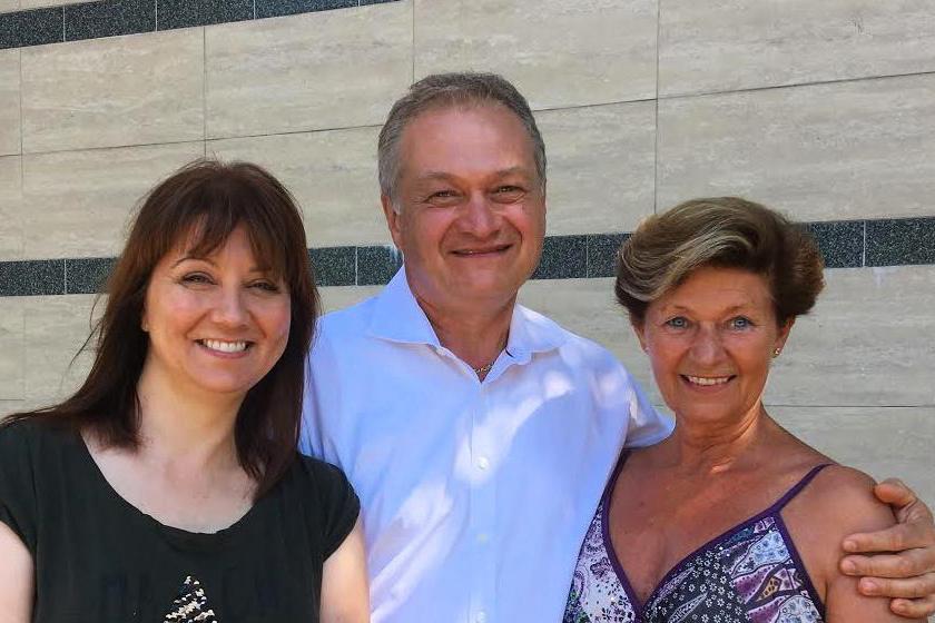 Bayer Friderika Regőczy Krisztinával és Sallay Andrással.