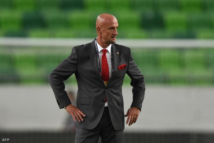 A magyar labdarúgó-válogatott szövetségi kapitánya, Marco Rossi