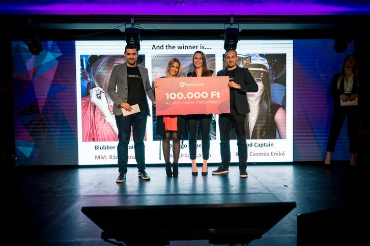 A Talentuno Recruiters' Night bemutatkozó rendezvényen élőben zajlott az ajánlás egy fiktív pozícióra, de valódi jelöltekkel: az első sikeres MatchMaker, Enikő és jelöltje, Anna az alapítókkal, Kelliár Zsolttal és Balázsik Péterrel.