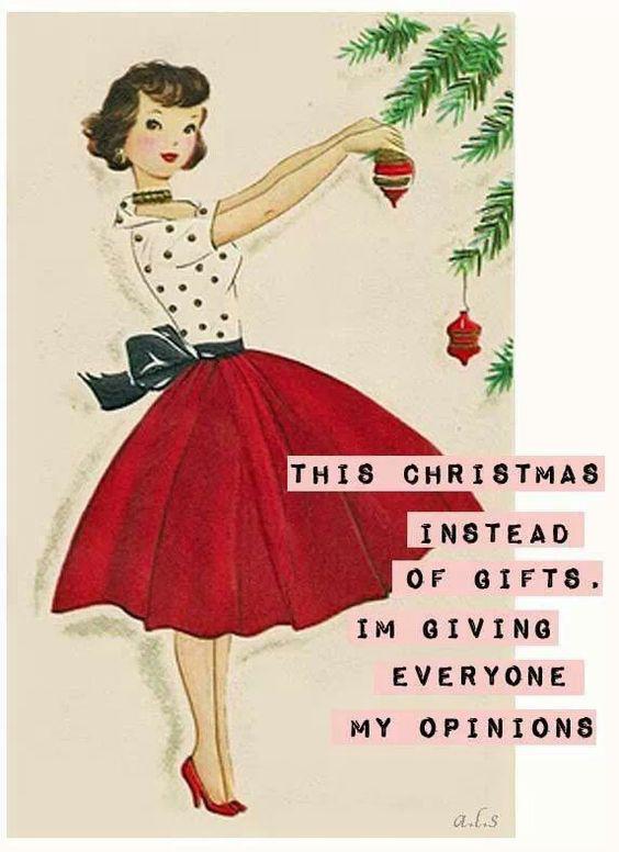 - Idén karácsonyra ajándék helyett mindenki megkapja a véleményemet!