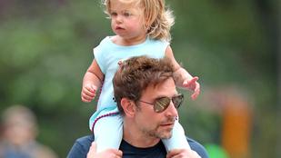 Egy pillanatra nem figyelünk oda, és Bradley Cooper kislánya ennyit változik