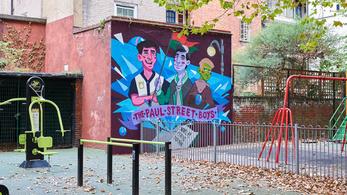 A magyarok kedvenc regényhőseivel graffitiztek le egy londoni falat