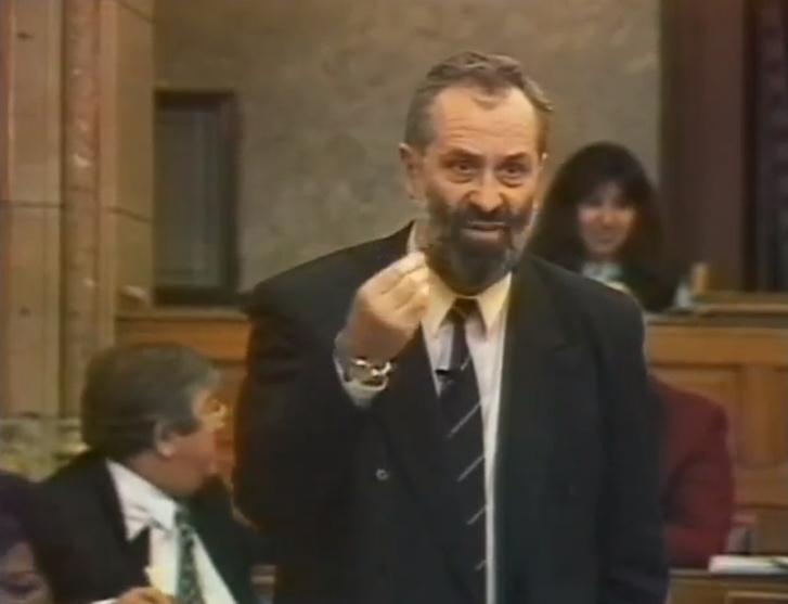 Kőrösi Imre 1994-ben a parlamentben