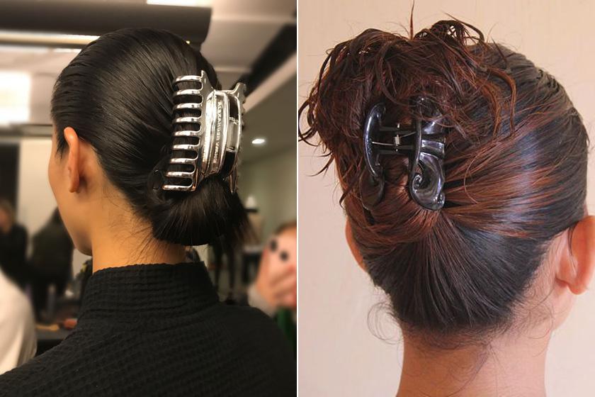 A hatalmas hajcsipeszeknél nincs idén divatosabb. Csavard fel hozzá hosszúkás kontyba a tincseidet úgy, hogy teljesen elfedje a hajdísz, de úgy is jól mutat majd, ha egy része kócosan leomlik a csat tetejére.