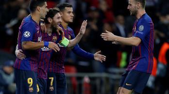 Wembley-őrület Messi-show-val a BL-ben