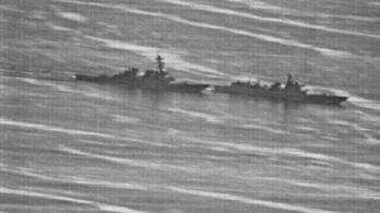 Fotókon, milyen közel volt egymáshoz a kínai és az amerikai hajó