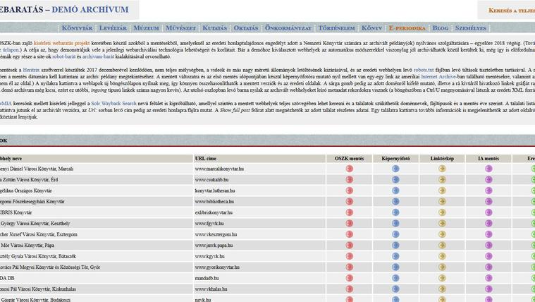 oszk webarchiv