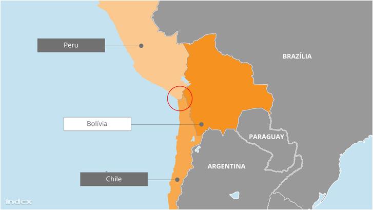 Bolívia szeretne egy folyosót, amin keresztül hozzáférhet a tengerhez