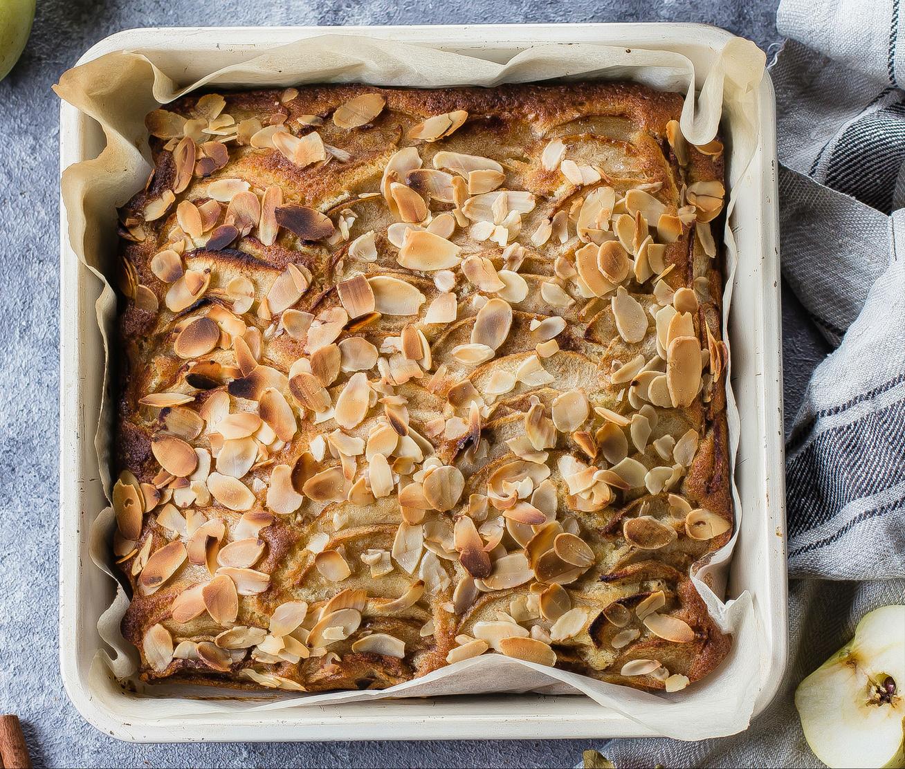 Rusztikus, norvég almás-mandulás süti: mindig pillanatok alatt elfogy