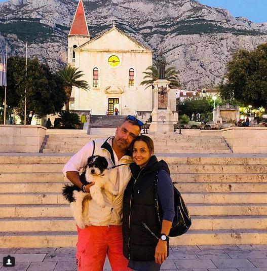 Sváby András és párja Horvátország egyik legszebb tengerpartján időztek, ami Makarska környékén található.