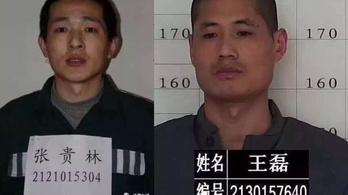 Rejtélyes szökés egy kínai börtönből: két férfit keresnek