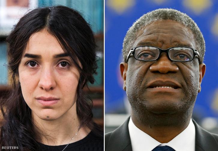 Nadia Murad és Denis Mukwege