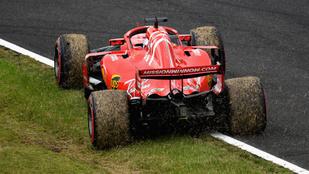 Óriási Ferrari-blama a japán időmérőn, Vettel csak a 9.