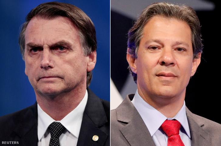 Jair Bolsonaro és Fernando Haddad