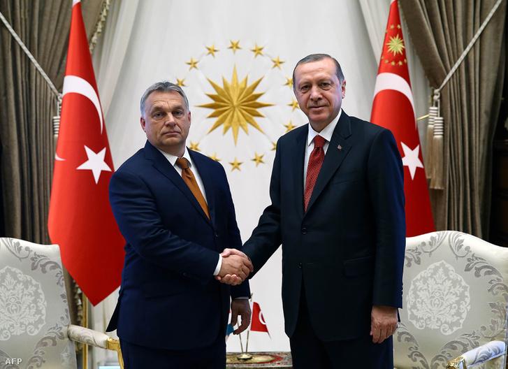 Orbán Viktor és Recep Tayyip Erdogan 2017. június 30-án.