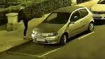 31 autó tükrét rúgta le az István utcai karate kölyök