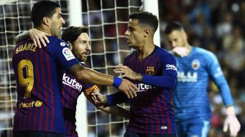 A 78. mp-ben gólt kapott a Barca, Messi egyenlített