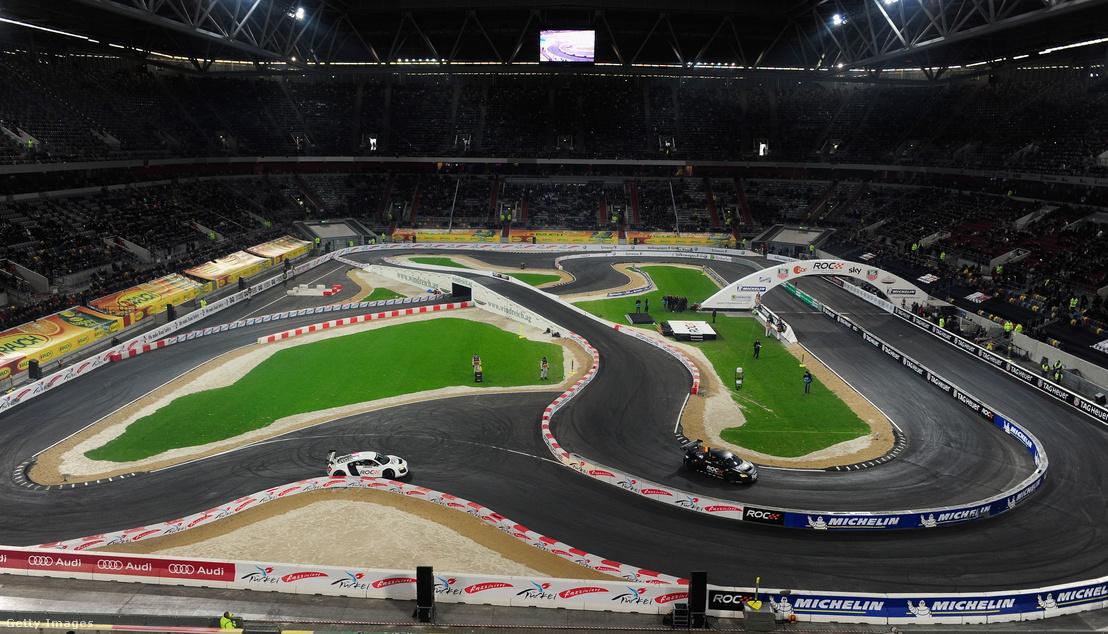 A Race of Champions pályája a düsseldorfi Esprit Arena gyepén