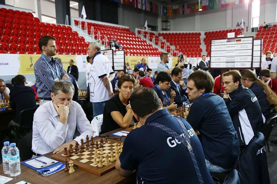 A magyar csapat a 2018-as sakkolimpián