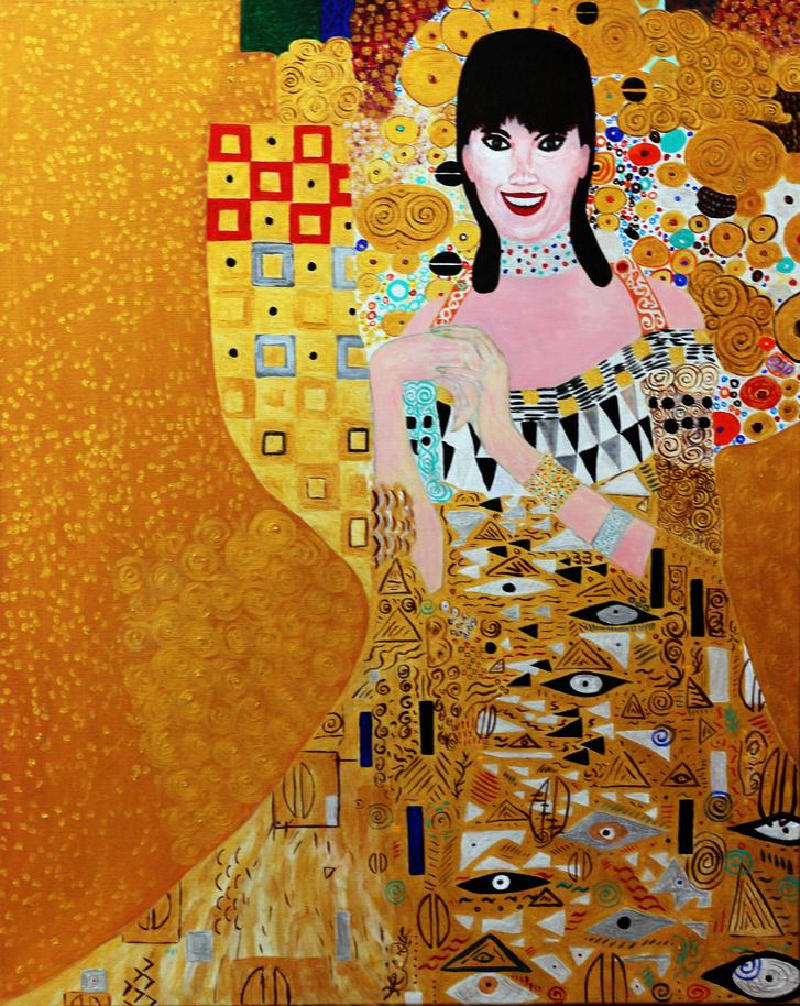 Orbán Ráhel Gustav Klimt műtermében Adele Bloch Bauer helyébe lé