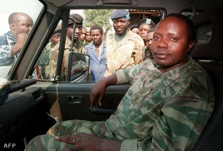 Augustin Bizimungu 1994. július 27-én, Goma közelében (Fotó: Vincent Amalvy)