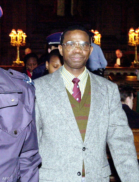 Augustin Ndindiliyimana 2000. április 12-én, Brüsszelben (Fotó: Herwig Vergult)
