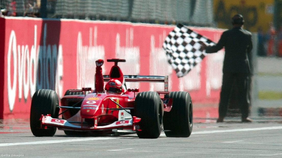 Michael Schumacher/ Ferrari nyeri az Olasz Nagydíjat 2003. szeptember 14-én
