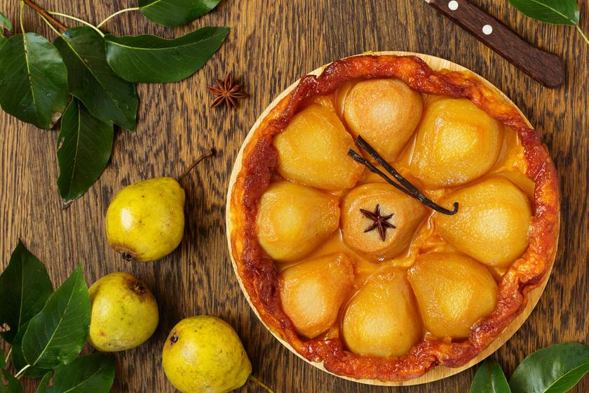 Karamellizált körtés pite: csodás tarte tatin leveles tésztából