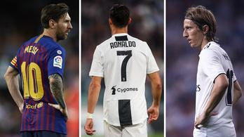 Brutális a Real Madrid fölénye az Aranylabda-jelöltek harmincas listáján