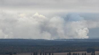 88 ezer tonnás lőszerraktár robbant fel Ukrajnában