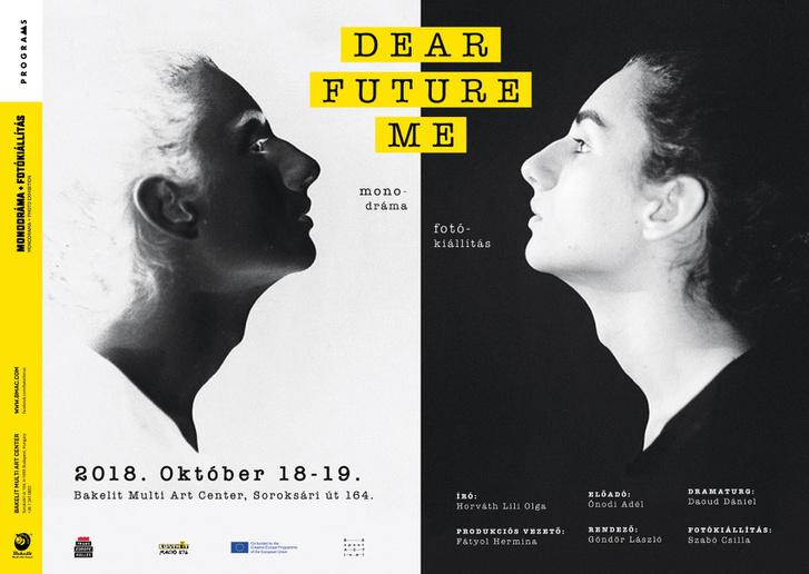 A Dear Future Me című előadás plakátja.