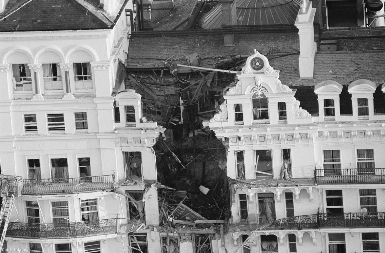 Így festett a bombázás után a Grand hotel, csoda, hogy Margaret Thatchernek nem esett baja.