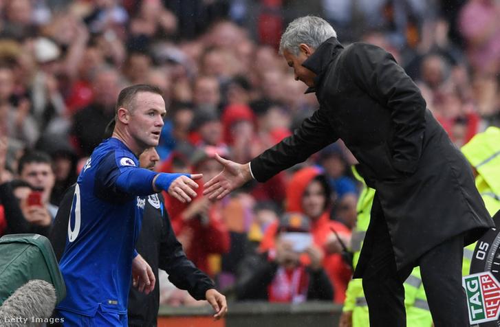 Rooney és Mourinho 2017 szeptemberében