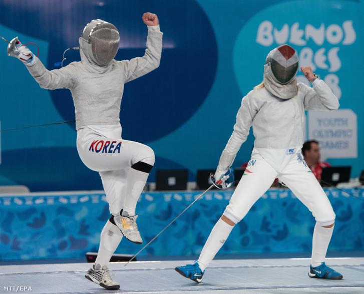 Pusztai Liza a koreai Ri Dzsu Ün elleni elődöntőben